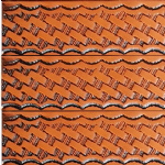 "Basketweave Embossed Full Grain Leather Belt . 1½"" (38mm) Wide. Code EM038"